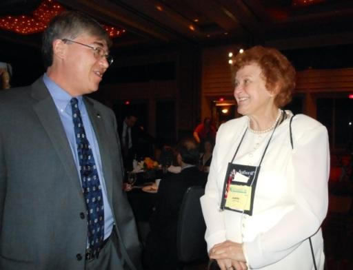 Steve with Judith Hale, ISPI president